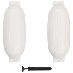 Bootsfender 2 Stk. Weiß 69 x 21,5 cm PVC