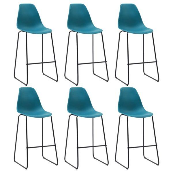 Barstühle 6 Stk. Türkis Kunststoff