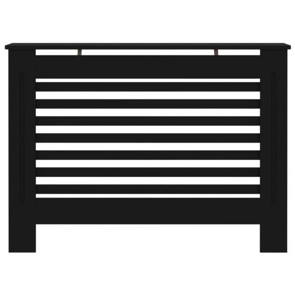 Heizkörperverkleidung Schwarz 112 x 19 x 81 cm MDF