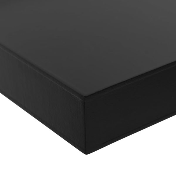 Schweberegale 2 Stk. Schwarz 80 x 20 x 3,8 cm