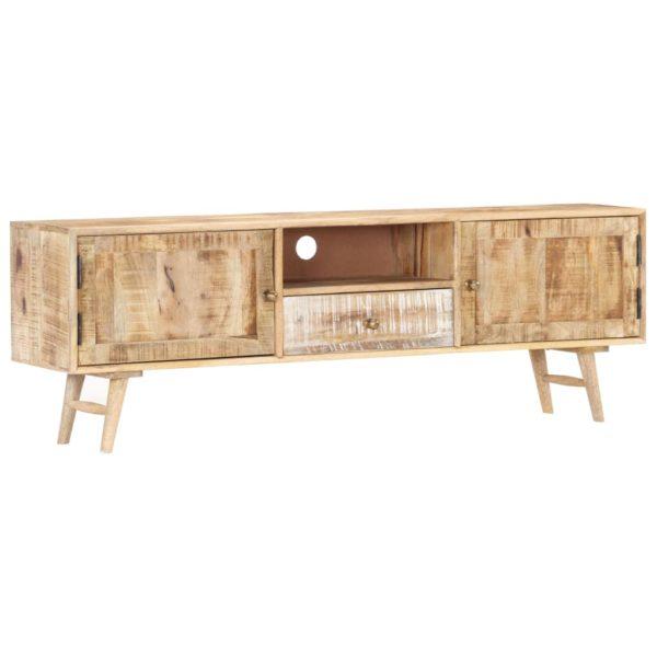 TV-Schrank 140×30×45 cm Massivholz Mango