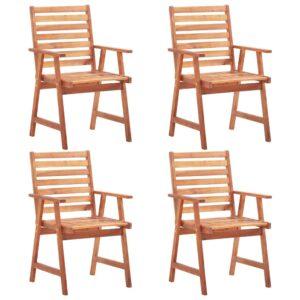 Gartenstühle 4 Stk. Massivholz Akazie