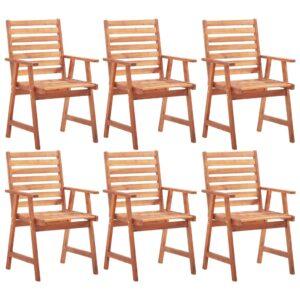Gartenstühle 6 Stk. Massivholz Akazie