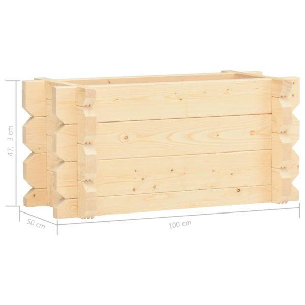 Hochbeet 42 mm 100 x 50 x 47,3 cm Massivholz Fichte