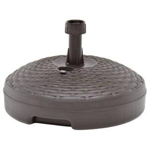 Sonnenschirmständer Sand/Wasser 20 L Braun Kunststoff