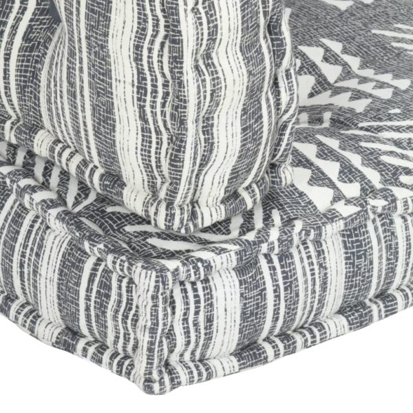 Palettensofa-Auflage Grau Stoff Patchwork