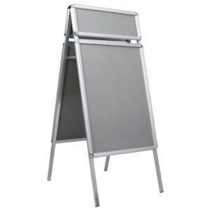 A1 Kundenstopper Plakatständer mit Topschild Aluminium