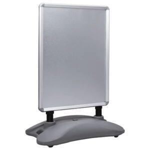 A1-Plakatständer Wasserbefüllbar Grau Aluminiumlegierung