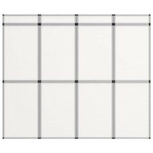 12-Panel Messewand Faltdisplay 242×200 cm Weiß