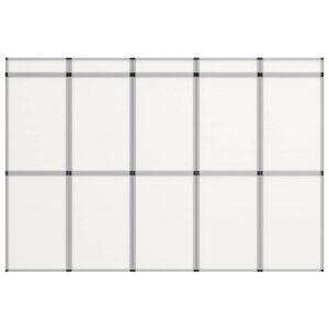 15-Panel Messewand Faltdisplay 302×200 cm Weiß