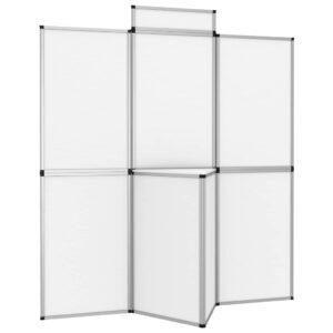 8-Panel Faltdisplay Messewand mit Tisch 181×200 cm Weiß
