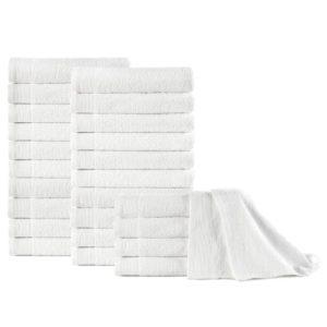 Handtücher 25 Stk. Baumwolle 350 g/m² 50 x 100 cm Weiß