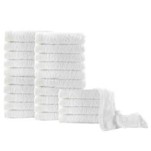 Gästehandtücher 25 Stk. Baumwolle 350 g/m² 30 x 50 cm Weiß