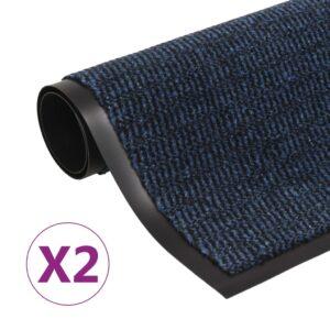 Schmutzfangmatten 2 Stk. Rechteckig Getuftet 120x180cm Blau
