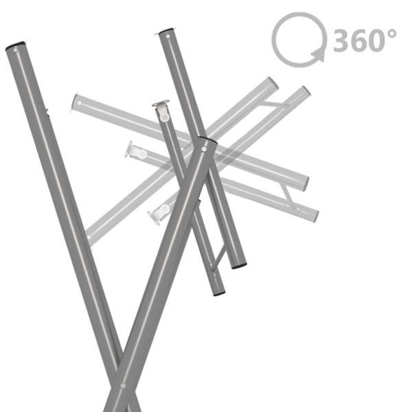 Klapptisch-Beine Silbern 45×55×112 cm Verzinkter Stahl