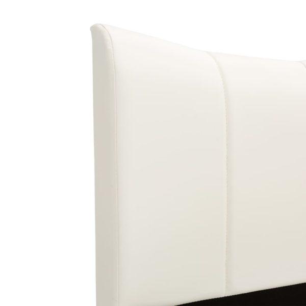 Bettgestell Weiß Kunstleder 200 x 200 cm
