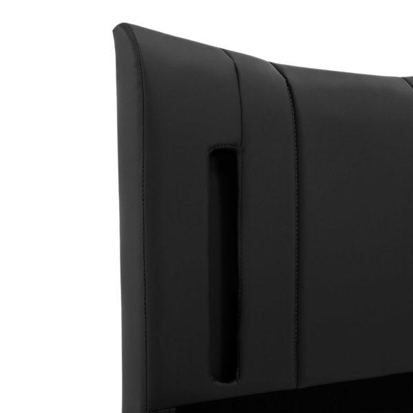Bettgestell mit LED Schwarz Kunstleder 140 x 200 cm