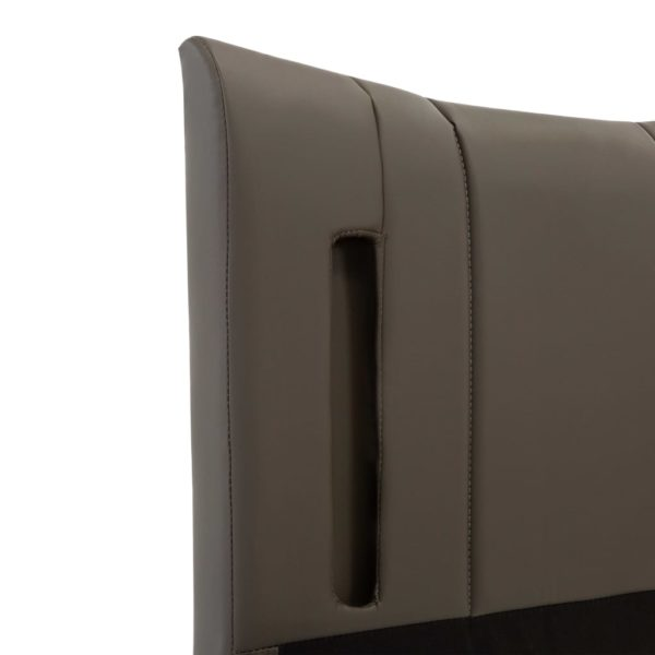 Bettgestell mit LED Anthrazit Kunstleder 100 x 200 cm
