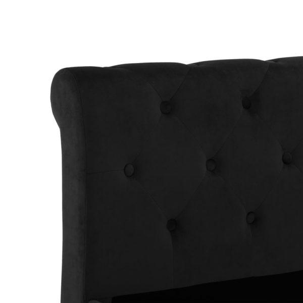 Bettgestell Schwarz Samt 200 x 200 cm