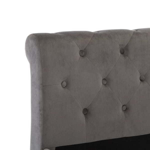 Bettgestell Grau Samt 180 x 200 cm