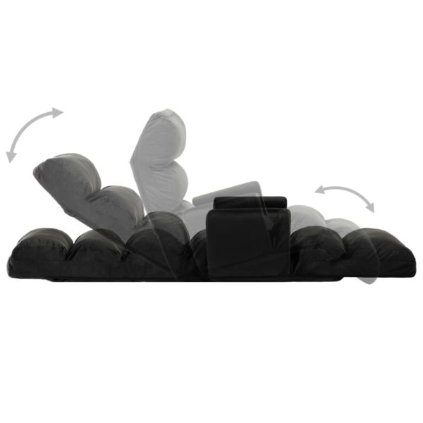 Boden-Schlafsessel mit Armlehnen Schwarz Stoff