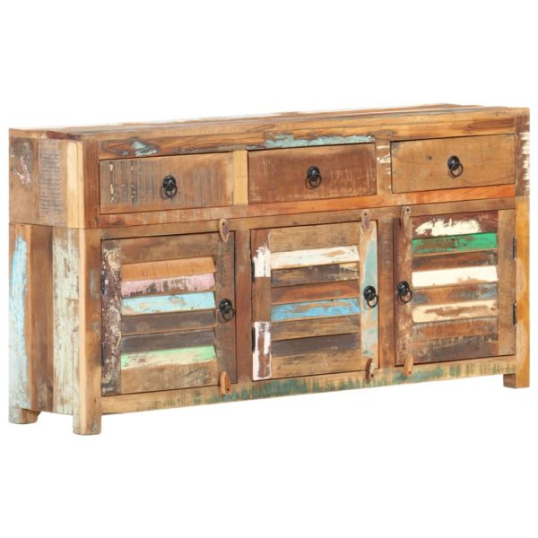 Sideboard 120 x 30 x 65 cm Recyceltes Massivholz