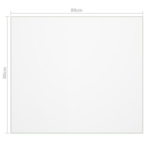 Tischfolie Transparent 80×80 cm 2 mm PVC