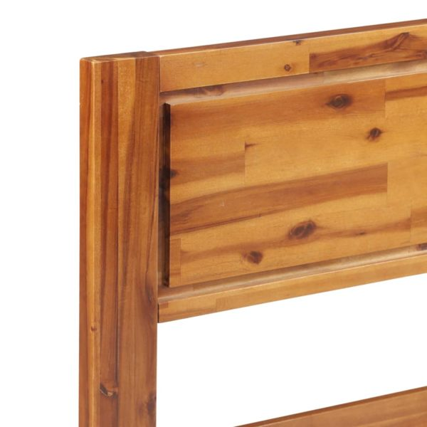 Bettgestell Massivholz Akazie 140×200 cm
