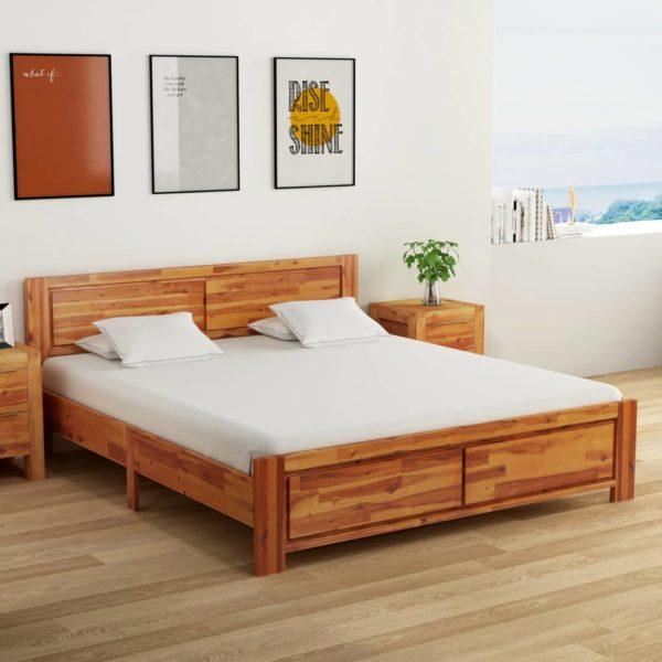 Bettgestell Massivholz Akazie 180×200 cm