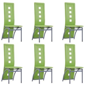 Esszimmerstühle 6 Stk. Grün Kunstleder