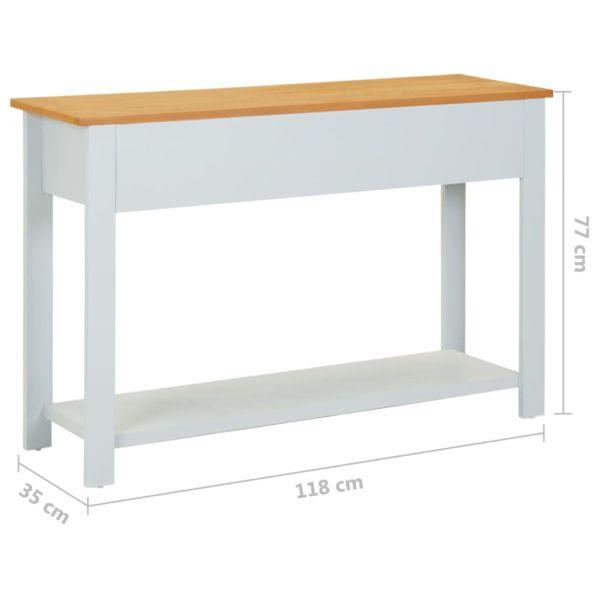 Konsolentisch 118×35×77 cm Massivholz Eiche