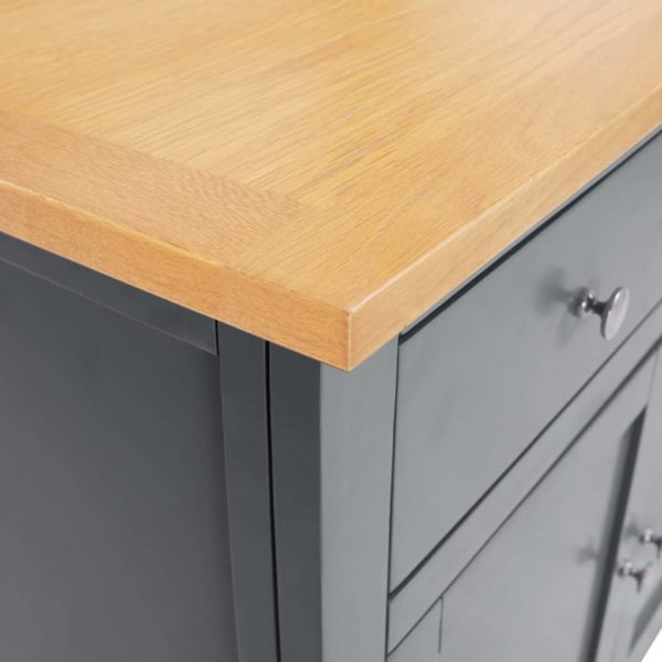 Sideboard 110×33,5×70 cm Massivholz Eiche