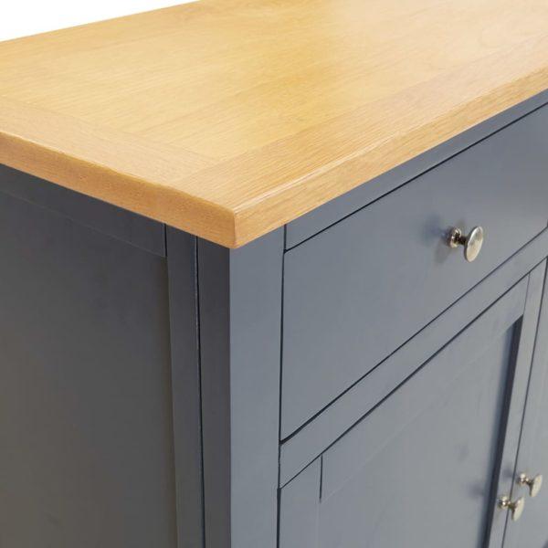 Sideboard 90×33,5×83 cm Massivholz Eiche
