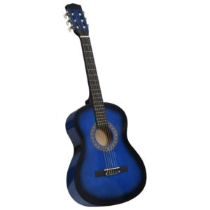 Klassikgitarre für Anfänger und Kinder Blau 3/4 36″