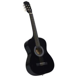 Klassikgitarre für Anfänger und Kinder Schwarz 3/4 36″