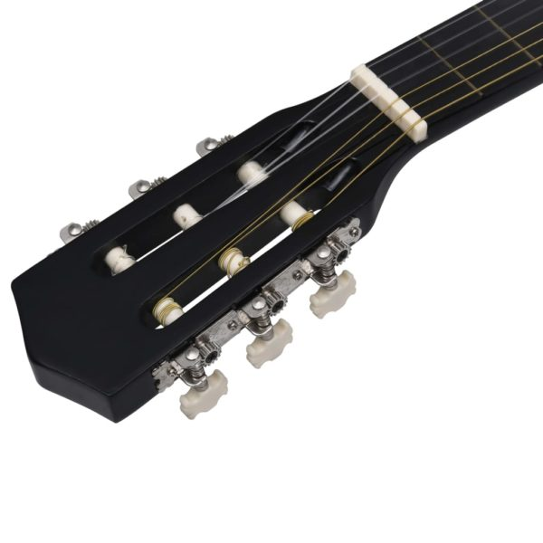 8-tlg. Klassikgitarren-Set für Anfänger Schwarz 1/2 34″