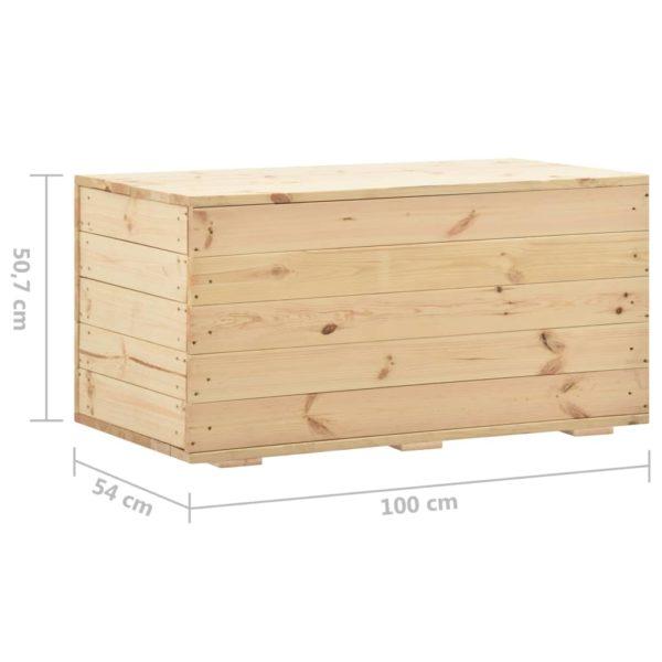 Aufbewahrungstruhe 100 x 54 x 50,7 cm Massivholz Kiefer