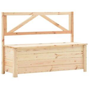 Sitzbank mit Stauraum 120 cm Massivholz Kiefer