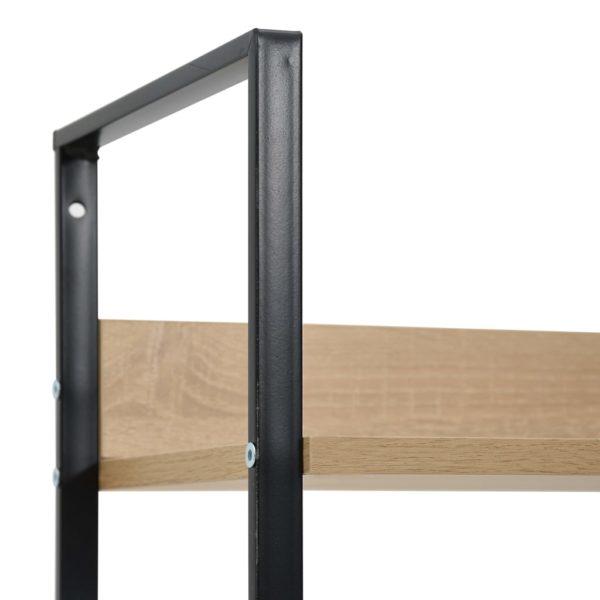 Bücherregal 4 Regalböden Eiche-Optik 60×27,6×124,5 Spanplatte