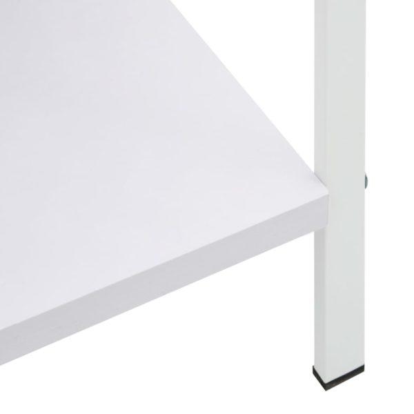 Bücherregal mit 4 Regalböden Weiß 60×27,6×124,5 cm Spanplatte