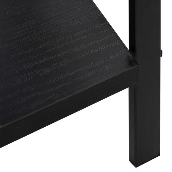 Bücherregal 5 Regalböden Schwarz 60×27,6×158,5 cm Spanplatte