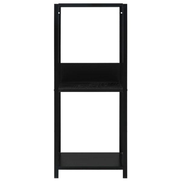 Kleines Bücherregal Schwarz 33,5 x 39,6 x 79,7 cm Spanplatte
