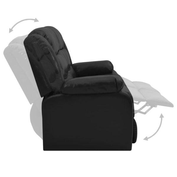 2-Sitzer-Liegesessel Schwarz Kunstleder