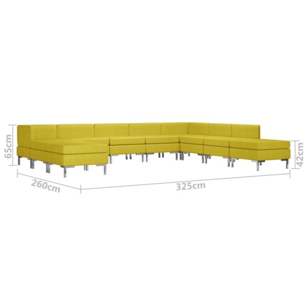 10-tlg. Sofagarnitur Stoff Gelb