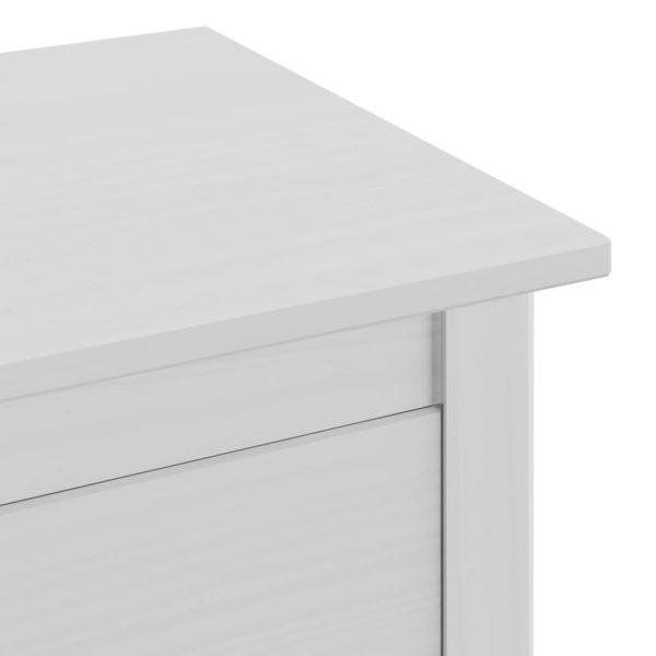 Sideboard Hill Range Weiß 46×35×80 cm Massivholz Kiefer