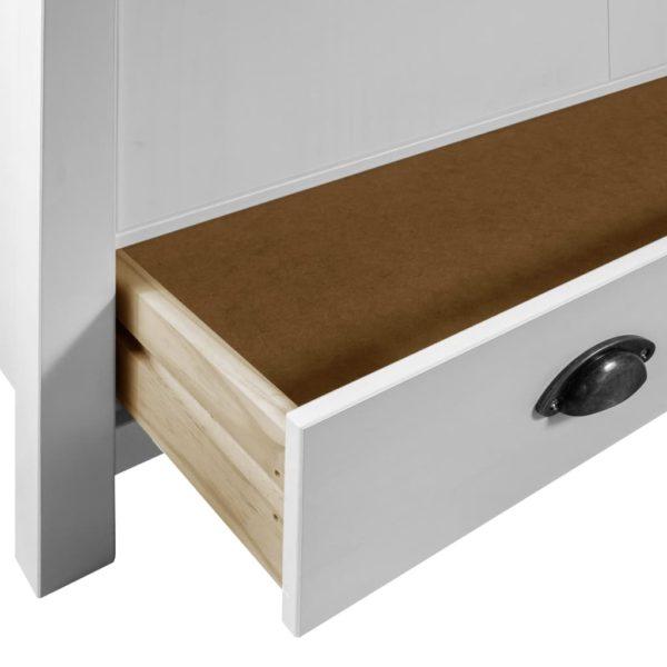 Kleiderschrank mit 3 Türen Hill Range Weiß 142x45x137 cm Kiefer