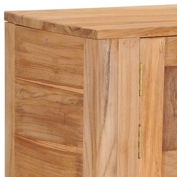Sideboard 140×30×75 cm Teak Massivholz