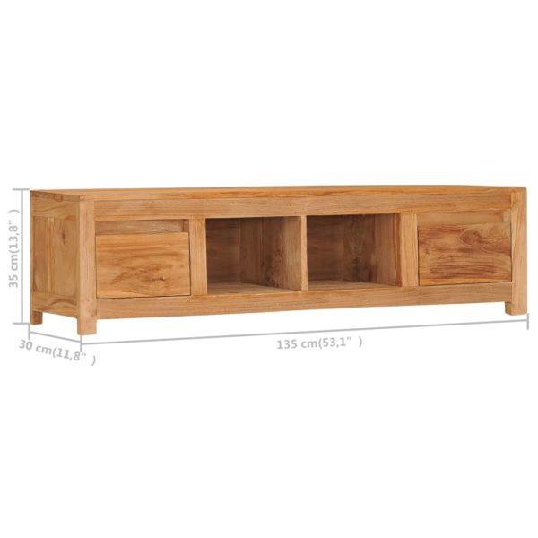 TV-Schrank 135×30×35 cm Massivholz Teak