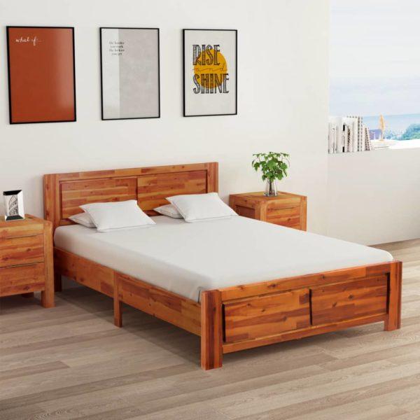 Bettgestell Akazie Massivholz 120×200 cm