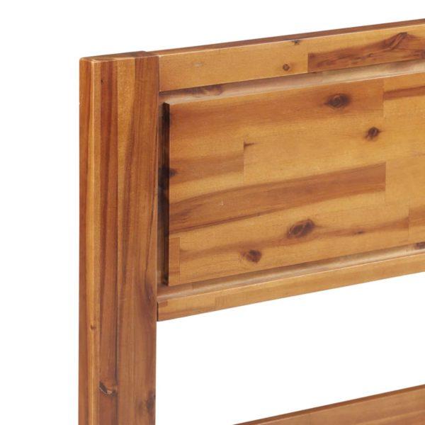 Bettgestell Akazie Massivholz 160×200 cm